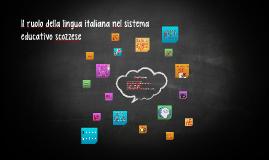 Il ruolo della lingua italiana nel sistema educativo scozzese