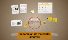 Copy of Preparación de materiales amorfos