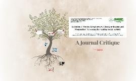 CRE220 - Marine Streptomyces - A Journal Critique