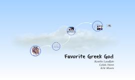 Favorite Greek God