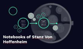 Notebooks of Stanz Von Hoffenheim