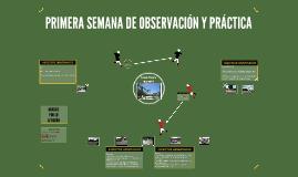 PRIMERA SEMANA DE OBSERVACIÓN Y PRÁCTICA