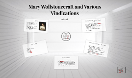 Mary Wollstonecraft and Various Vindications