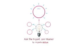 Ask The Expert: Joni Warner