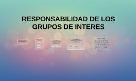 RESPONSABILIDAD DE LOS GRUPOS DE INTERES
