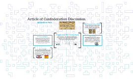 Article of Confederation Discussion