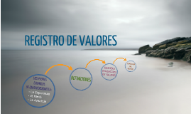 REGISTRO DE VALORES