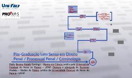 Pós-Graduação Lato Sensu em Direito Penal / Processual Penal