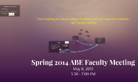 Spring 2014 ABE Faculty Meeting