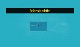 Referencia relativa