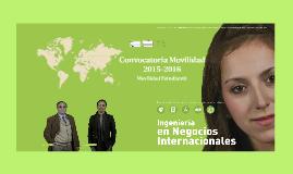 Convocatoria Movilidad 2015-2016