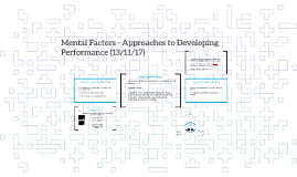 Copy of Mental Factors - Approaches to Developing Performance (24/9/
