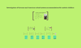 Investigation of German and American school system accommoda