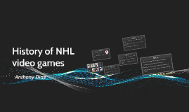 History of NHL video games