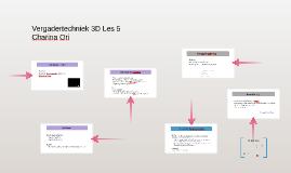 Vergadertechniek 3D Les 5
