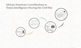 African American Contributions to Union Intelligence