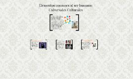 Elementos comunes al ser humano: Universales Culturales