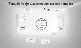 Copy of La oferta y demanda: sus determinantes