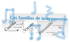 Las familias de instrumentos