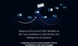 Impacts of recent El Niño Modoki on dry/wet conditions in th