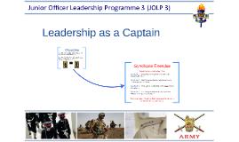 Leadership as a Captain
