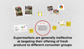 Supermarkets are generally ineffective at targeting their of