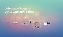 Advocacy Linoleum Prints