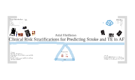 Copy of Clinical Risk Stratification in Atrial Fibrillation: Stroke and TE Predicting Score and HAS-BLED Score