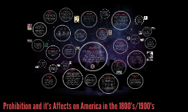 Prohibition and it's Affects on America in the 1800's/1900's