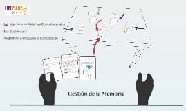Gestión de la Memoria