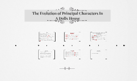 The Evolution of Principal Characters