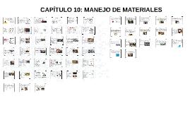 CAPÍTULO 10: MANEJO DE MATERIALES