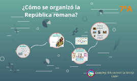 ¿Cómo se organizó la República romana?