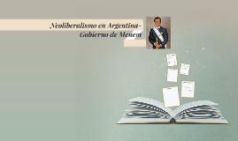 Neoliberalismo en Argentina- Gobierno de Menem