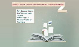 """Analisis Literario:""""Si yo me vuelvo a enamorar"""" - Miriam Her"""