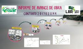INFORME DE AVANCE DE OBRA                  . . . . . . .