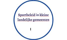 Sportbeleid in kleine landelijke gemeenten