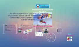 Copy of PROGRAMA DE SEGURIDAD PACIENTE