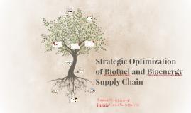 Strategic Optimization of Biofuel and Bioenergy Supply Chain