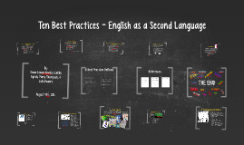 Copy of Copy of Ten Best Practices - English as a Second Language