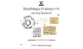 Metodologia da leitura e da escrita musical