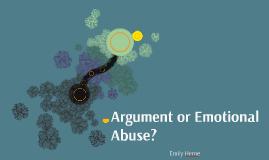 Argument or Emotional Abuse?