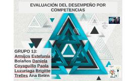 EVALUACIÓN DEL DESEMPEÑO POR COMPETENCIAS