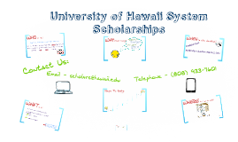 2015-16 UH System Scholarship Process