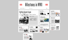 Milestones in WWII