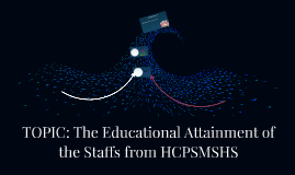 TOPIC: The Educational Attainment of the Staffs from HCPSMSH
