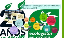 Asamblea Ecologistas en Acción El Puerto2018
