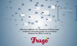 RESTRUCTURACIÓN  DEL PROGRAMA DE MONITOREO AMBIENTAL MICROBI