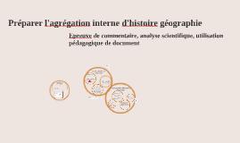 préparer l'agrégation interne d'histoire géograpie