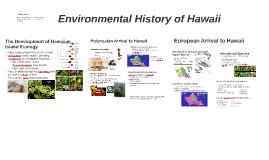 Environmental History of Hawaii